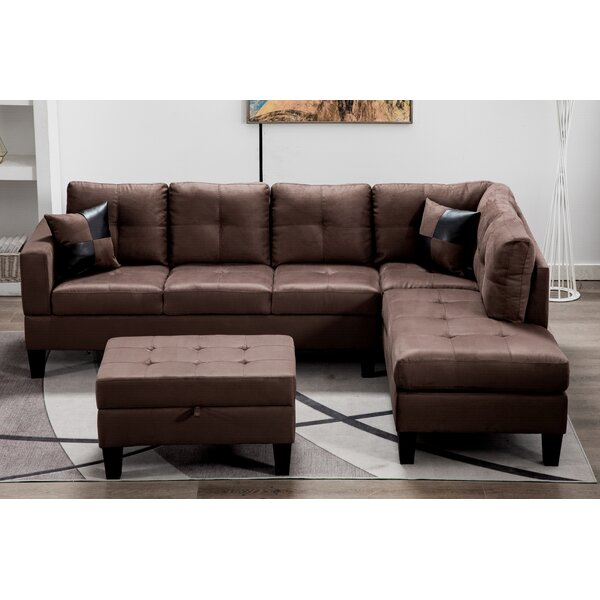 Eliseo Modular Sectional With Ottoman By Ebern Designs