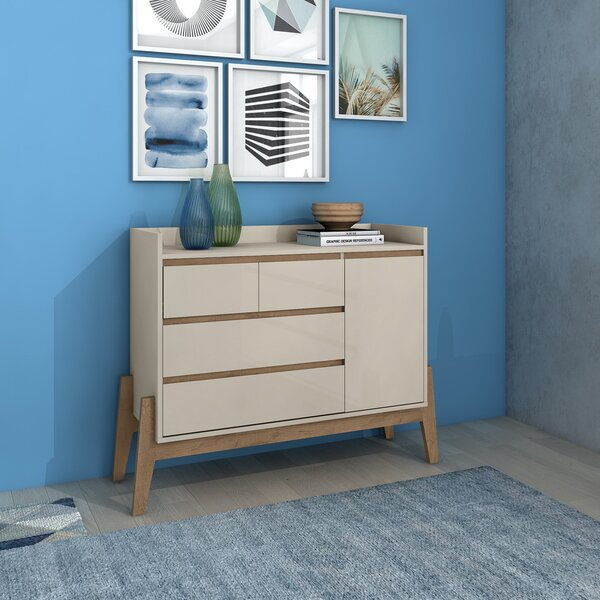 Taul 4 Drawer Combo Dresser by Union Rustic