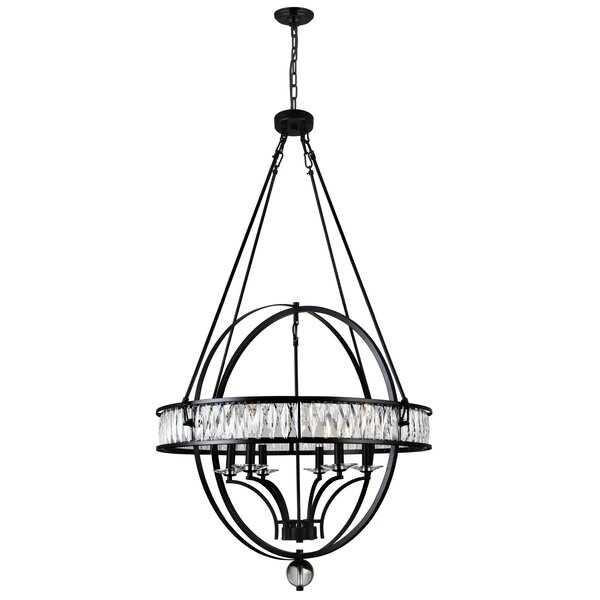 Seaforth 6 - Light Candle Style Globe Chandelier by House of Hampton House of Hampton