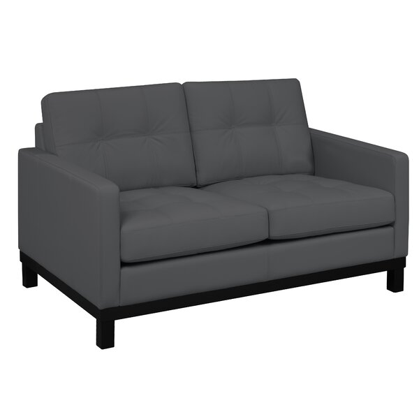 Merrick Road Leather Loveseat By Latitude Run Comparison