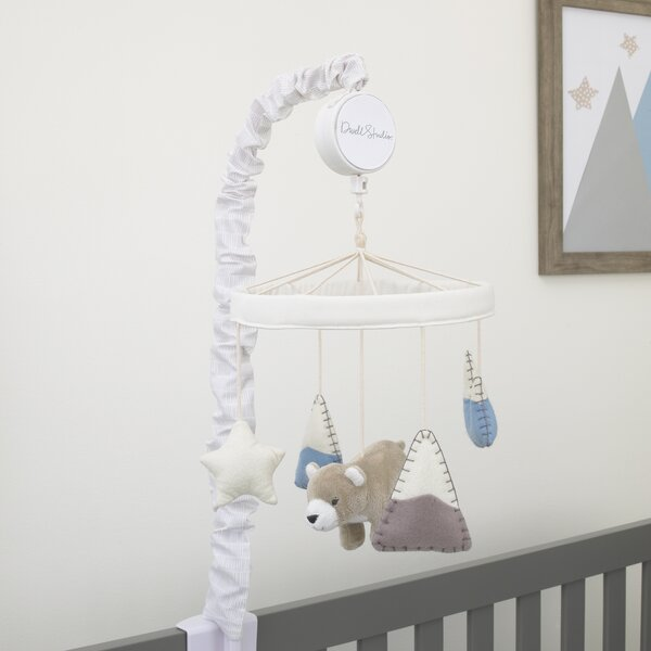 DwellStudio Bear Hugs Nursery Crib Musical Mobile