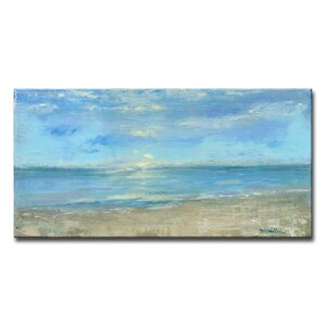 'Morning View' Oil Painting Print on Canvas by Beachcrest Home