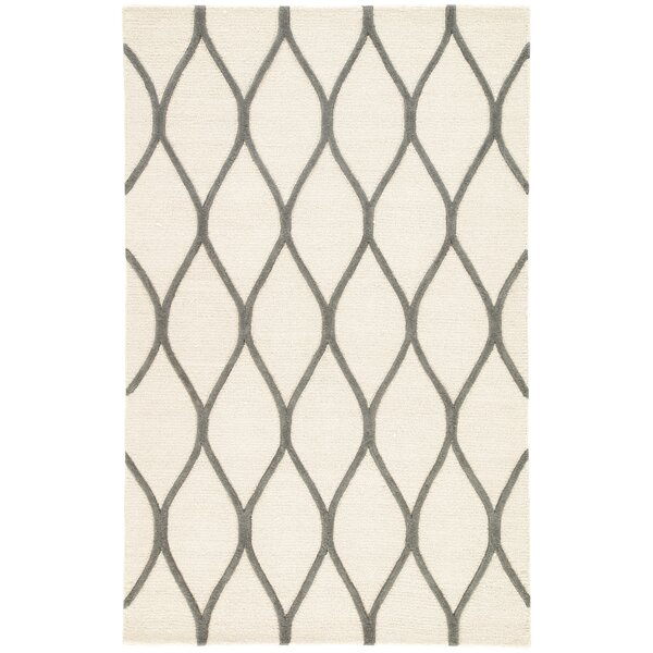 Tinkham Ivory/Gray Rug by Latitude Run