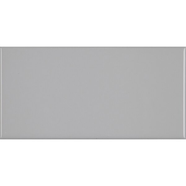 3 x 6 Ceramic Subway Tile in Light Grey by Itona Tile