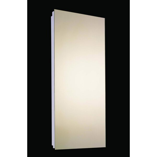 Law Edge Mirror Door 52 x 18 Recessed Frameless Medicine Cabinet with 7 Adjustable Shelves by Latitude Run