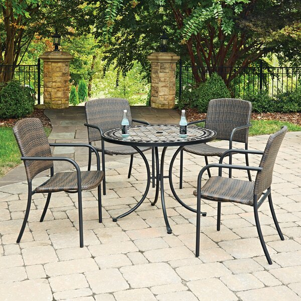 Cumby Marble Top Round 5 Piece Dining Set by Fleur De Lis Living
