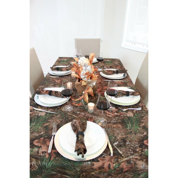 Thanksgiving and Christmas Holiday True Timber Tablecloth by Millwood Pines