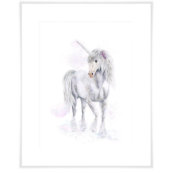 Alysha Unicorn Portrait Paper Print by Harriet Bee