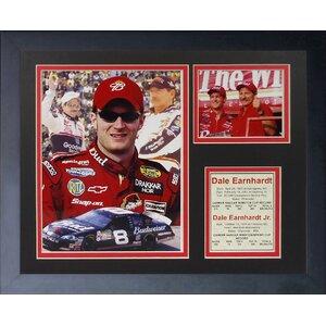 Dale Earnhardt Sr. and Dale Earnhardt Jr. Framed Memorabilia by Legends Never Die