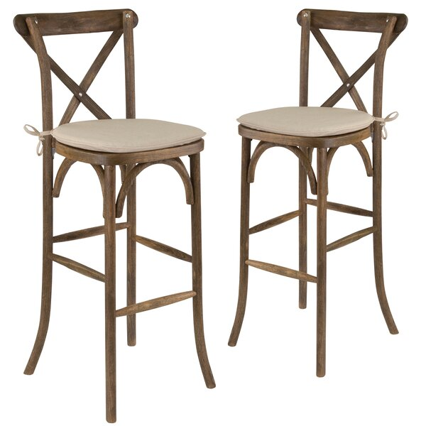 Pitre 43 Bar Stool (Set of 2) by Gracie Oaks