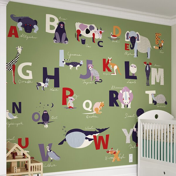 Alphabet Wall Mural by Brewster Home Fashions