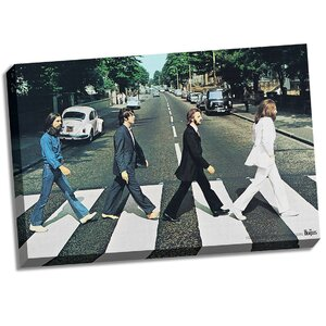 The Beatles 'Abbey Road' Photographic Print on Wrapped Canvas by Steiner Sports