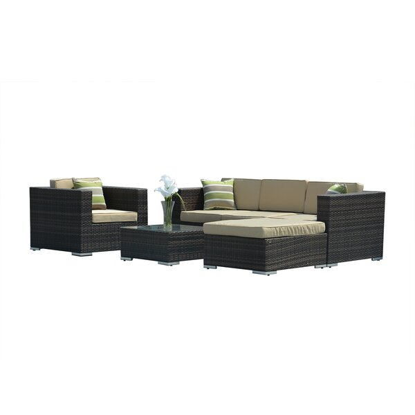 Bavorov 4 Piece Sofa Seating Group with Cushions (Set of 6) by Charlton Home