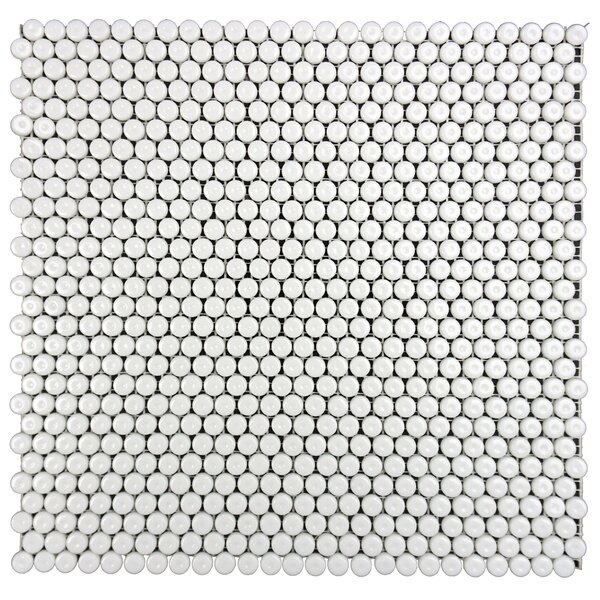 Constantine 0.5 x 0.5 Glass Mosaic Tile in Galahad White by Solistone