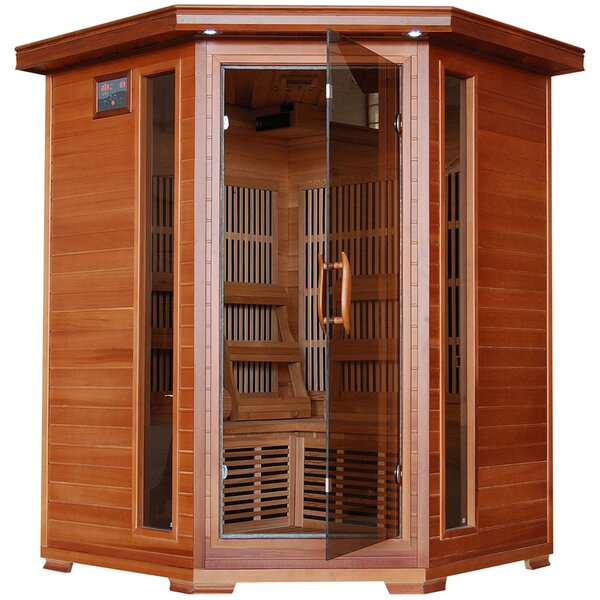 3 Person Corner Carbon FAR Infrared Sauna by Radiant Saunas