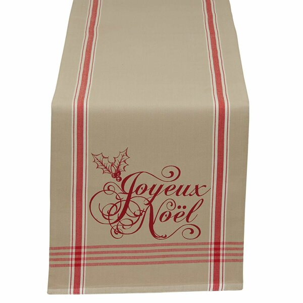Lila Joyeux Noel Table Runner by The Holiday Aisle