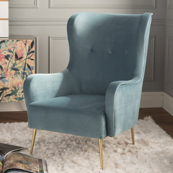 Burke Wingback Chair by Mistana Mistana