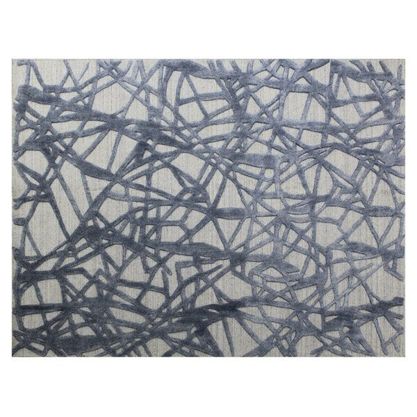 Windsor Hand-Woven Wool Beige/Gray Area Rug by Exquisite Rugs