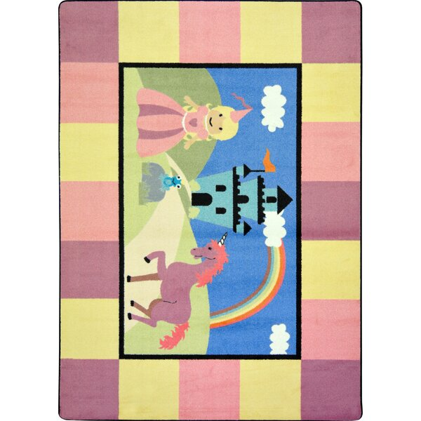 Pink/Blue Area Rug by The Conestoga Trading Co.