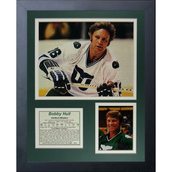 Bob Hull - Hartford Whalers Framed Memorabilia by Legends Never Die