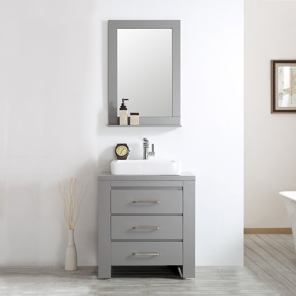 Kinchen 30 Single Bathroom Vanity Set with Mirror by Latitude Run