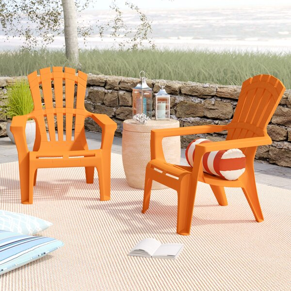 Martindale Plastic Adirondack Chair (Set of 2) by Rosecliff Heights| @ $182.00
