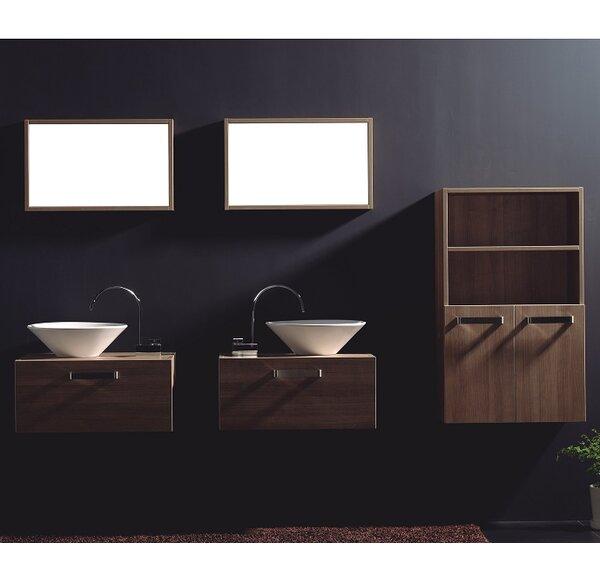 Cosimo 26 Wall-Mounted Double Bathroom Vanity Set with Mirror by Tonusa