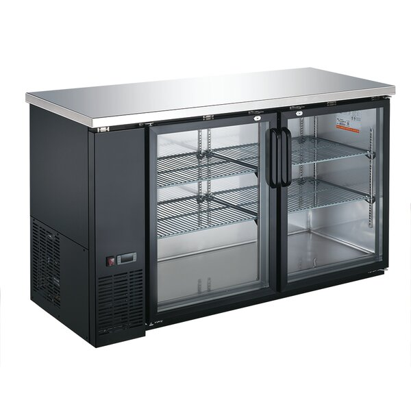 Commercial Glass Door Underbar 15.8 cu. ft. Energy Star Counter Depth All-Refrigerator by EQ Kitchen Line
