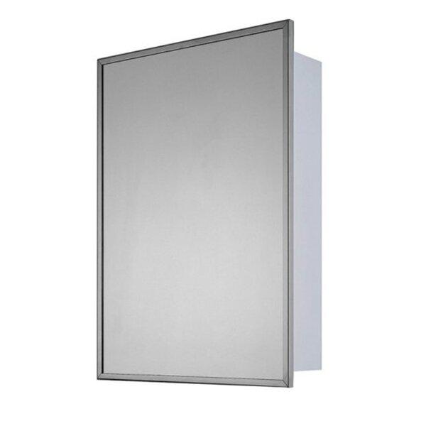Serbelloni Surface Mount Framed Medicine Cabinet with 3 Adjustable Shelves