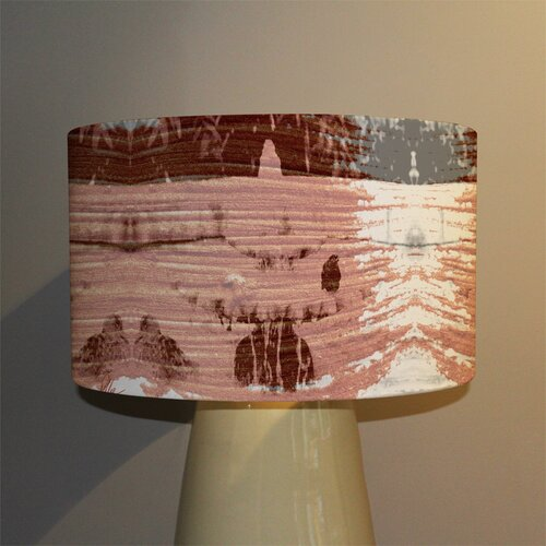 Bird Bath Cotton Drum Lamp Shade Ebern Designs Size: 22cm H