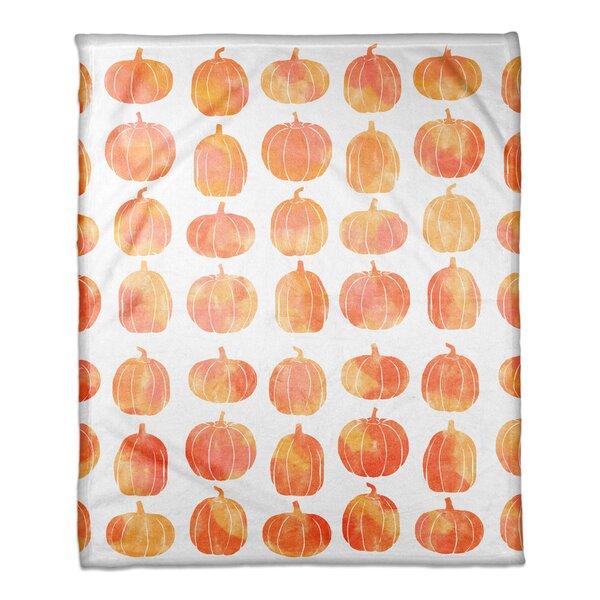 Pumpkins Fleece Throw by The Holiday Aisle