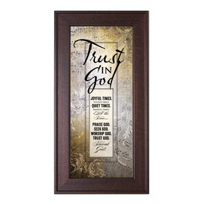 Trust in God Framed Graphic Art by The James Lawrence Company