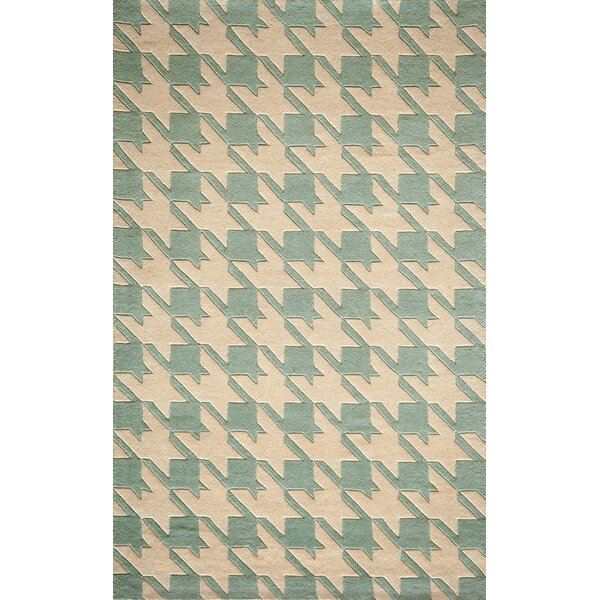 Wehmeyer Hand-Tufted Light Blue Area Rug by George Oliver