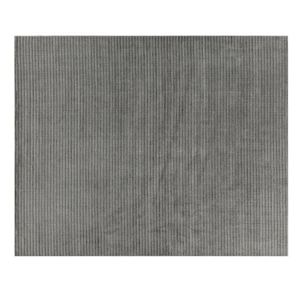 Vive Hand-Knotted Wool/Silk Gray/Ivory Area Rug by Exquisite Rugs