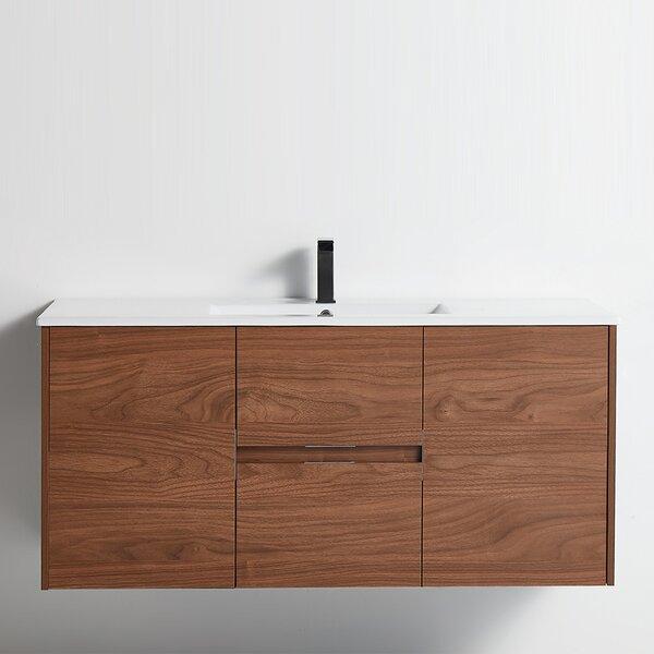 Hochstetler 48 Wall-Mounted Single Bathroom Vanity Set