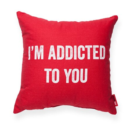Expressive Addicted To You Decorative Throw Pillow by Posh365
