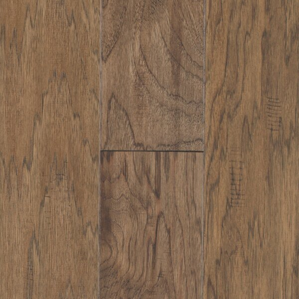 Pioneer Harbor 5 Engineered Hickory Hardwood Flooring in Low Glossy Brown by Mohawk Flooring