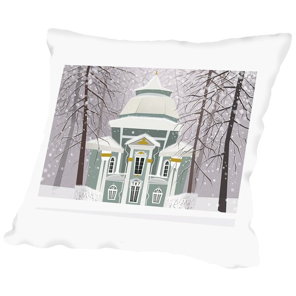 A Winter Scene Throw Pillow by East Urban Home