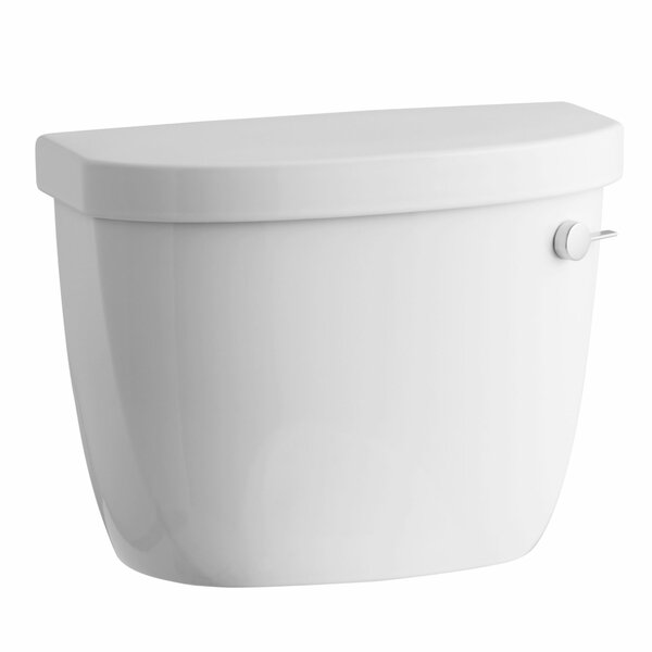 Cimarron 1.28 GPF High Efficiency Toilet Tank with Aquapiston Flush Technology, Right-Hand Trip Lever and Tank Locks by Kohler
