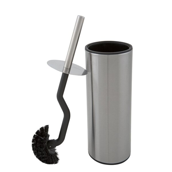 Contoured Head Free Standing Toilet Brush and Holder by Bath BlissContoured Head Free Standing Toilet Brush and Holder by Bath Bliss