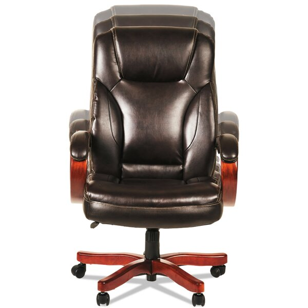 Devin Transitional Genuine Leather Executive Chair by Symple Stuff