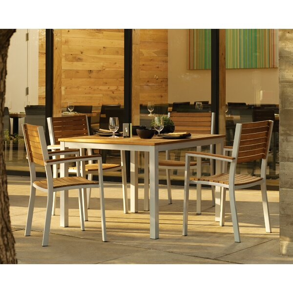 Caravelle 5 Piece Teak Dining Set by Brayden Studio