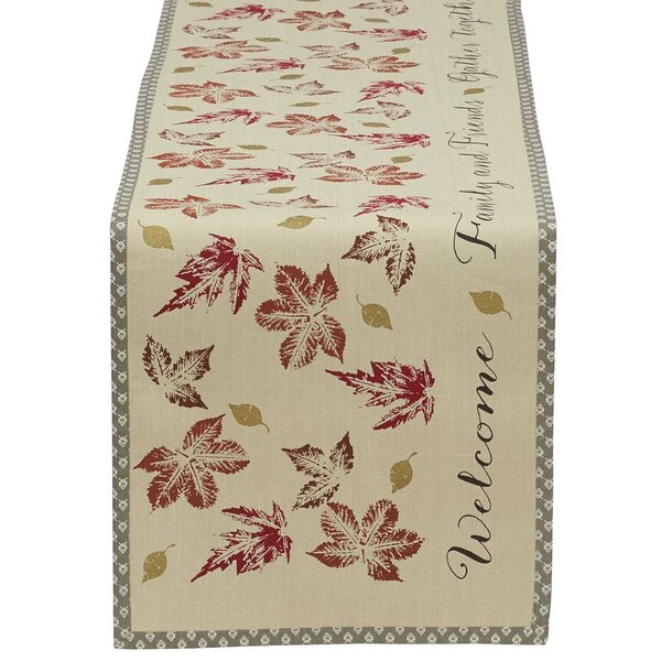 Gather Together Printed Table Runner by Design Imports