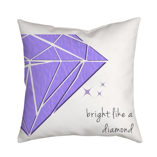Bright Like a Diamond Throw Pillow by Positively Home