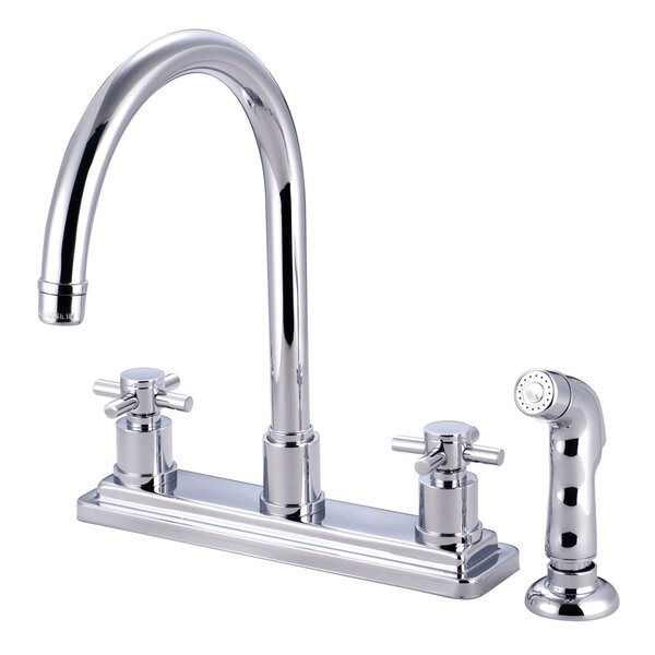 Concord Double Handle Kitchen Faucet with Side Spray by Elements of Design