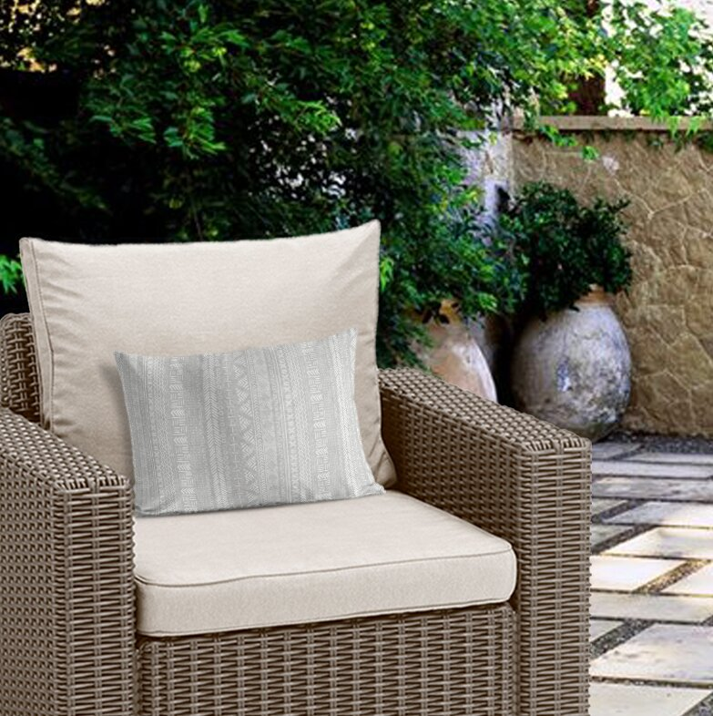 Mistana Adeline Modern Outdoor Lumbar Pillow With Zipper Wayfair