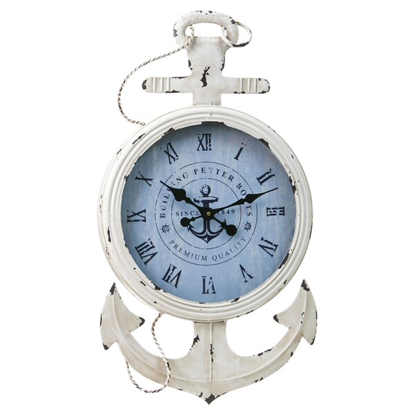 Metal and Wood Anchor Clock by Cape Craftsmen