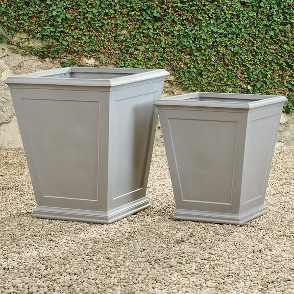 Fales 2-Piece Fibreclay Box Planter Set by Darby Home Co