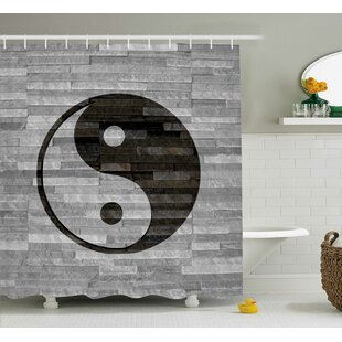 Compare prices Alejandro Ying Yang Harmony Asian Shower Curtain ByEbern Designs