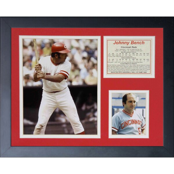 Johnny Bench - Portrait Framed Photographic Print by Legends Never Die